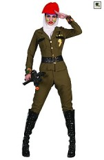 Plus size Dress-up Costumes 83275 Army Girl