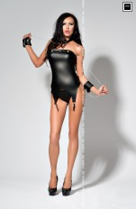 Gorsety latex Me Seduce - Catty Corset