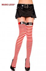 Costume Stockings/Hold-ups Music Legs - 4776 Opaque Stripe Thigh Hi