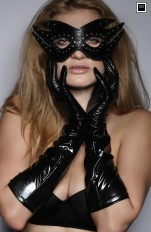 Rękawiczki latex 7heaven - A7811 Sexy Long Wet Look Gloves