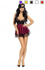 Satin Beauty Night Fashion - Eve chemise with mask