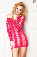 Chemises and Dresses  7heaven - Canberra Pink Seamless Long-sleeved Dress