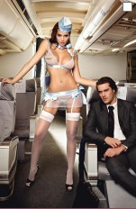 Stewardess  Baci - 1220 First Class Flight Attendant