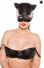 Blindfold, eyemask & masks Allure Lingerie - CM-4005 Faux Leather Cat Mask