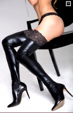 Wet-look, Metallic 7heaven - A0197 Sexy Wet-look Stockings