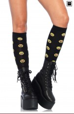 Knee Socks Leg Avenue - 5211 Knee Highs With The Famous Emoji Signs