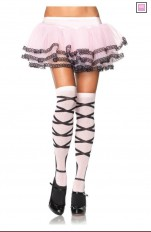 Overknees Leg Avenue - 6630 Sexy Laced up Knee Socks