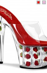 Sexy Sandals Pleaser - ADORE-701FL Pointed Stilettos with Roses