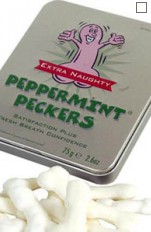 Sexy sweets Peppermint Peckers - Mint candy, shape of penises