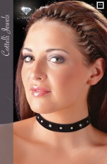 Chokers Cottelli Collection - 2450038 Elastic Black Velvet Choker
