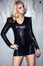 Wet-look, Metallic 7heaven - Brandy Phenomenal Stud Dress