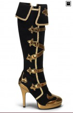 Sexy Boots Pleaser - ARENA-2012 Buckle Strap Carnival P/F Knee Boot