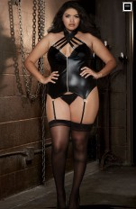 Dreamgirl - 10157X Black Bustier and G-String