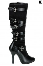Sexy Boots Pleaser - ARENA-2030 Knee Boots with Adjustable Buckles