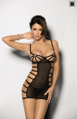 Peek-a-boo Chemises Angels Never Sin - Mistra Chemise & G-string