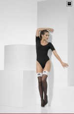 Costume Stockings/Hold-ups Fever - 43547 French Maid Hold-Ups