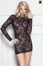 Chemises and Dresses  7heaven - Kimberly Amazing Lace Long-sleeved Dress