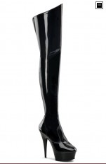 Sexy Boots Pleaser - DELIGHT-3010 Stiletto Heel PF Thigh Boot,