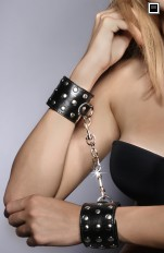 Handcuffs & footcuffs 7heaven - A7776 Sexy Leather Cuffs with Studs