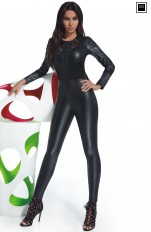 Leather & Imitation  Bas Bleu - Rosie Sexy Leather Catsuit