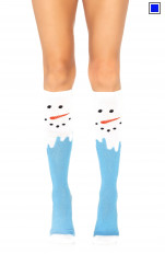 Knee Socks Leg Avenue - 5612 Snow Man Knee High