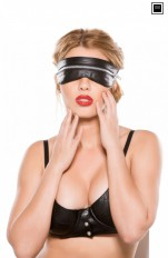 Blindfold, eyemask & masks Allure Lingerie - BF-2005 Faux Leather Zip Mask