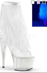 High heels, Stillettos, Boots  Pleaser - ADORE-1017MFF Marabou Fur Fringe Ankle Boot