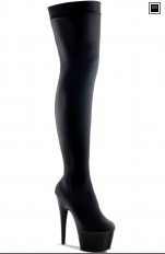 Sexy Boots Pleaser - ADORE-3002 Black Stretch Velvet