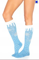 Christmas / Santa  Leg Avenue - 5613 Snow Flake Knee Highs