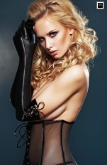 Accessories 7heaven - A0211 Wetlook Long Gloves