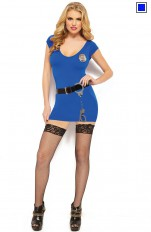 Policewoman  Rockalicious - R130 4 Piece Police Officer Costume