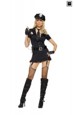 Policewoman  Leg Avenue - 83344 Sexy Policewoman Fancy Dress Costume