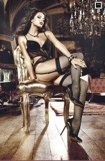 Fishnet Stockings/Hold-ups Baci - 2001 Afterdark Fishnet Thigh High with Backseam