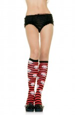 Knee Socks Leg Avenue - 5586 Sexy Striped Woven Skull Stockings