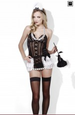 French Maid  Fever - 45306 Maid At Your Service Dress, Apron & Headpiece