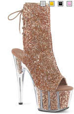 Sexy Sandals Pleaser - ADORE-1018G Glitter Ankle Strap