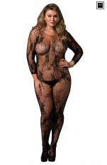 Plus size Bodystocking Leg Avenue - 89170Q Floral Lace Bodystocking