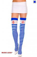 Costume Stockings/Hold-ups Music Legs - 4681 Sailor Girl Costume Stay ups