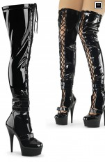 Sexy Boots Pleaser - DELIGHT-3029 Lace-Up Thigh High Boot
