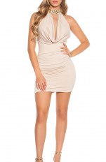 Dresses Forecer Sexy - 9037-N Sexy Neck Dress
