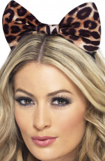 Costume accessories Fever - 24871 Cheetah Bow on Headband